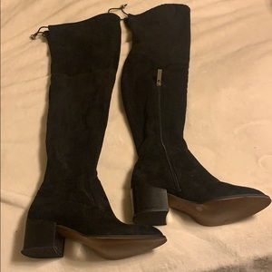 BCBG black over the knee boots